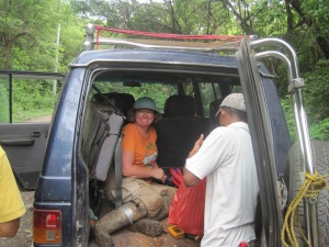 This is me in our field vehicle in the Area de Conservacion Guanacaste, Costa Rica.